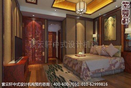 古典风格装修,章总豪宅别墅中式装修之老人房装修效果图