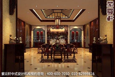 公装设计-红木家具商场展厅中式装修-茶几展区装修效果图