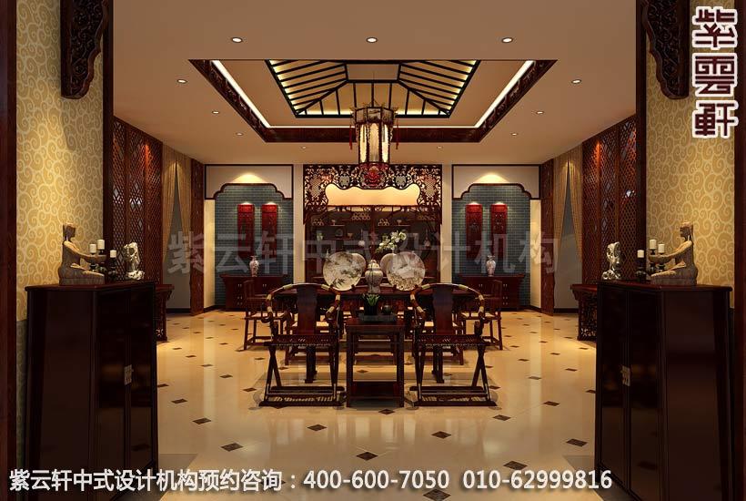 公装设计-红木家具商场展厅中式装修-茶几展区装修效果图图片