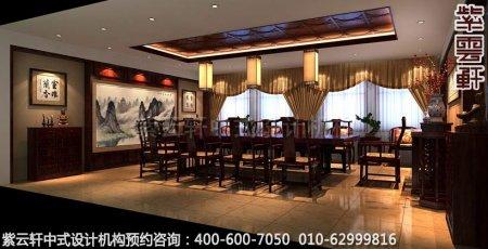 公装设计-红木家具商场展厅中式装修-会议室展区装修效果图