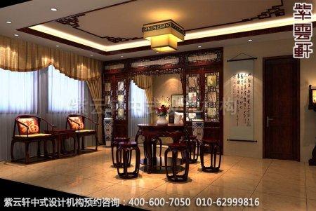 公装设计-红木家具商场展厅中式装修-会客室展区装修效果图