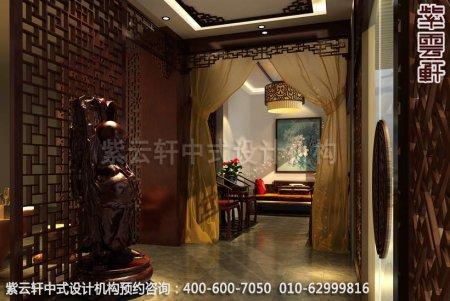 公装设计-渭南办公室中式装修-门厅装修效果图