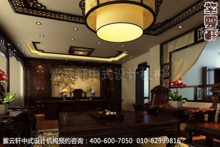 公装设计-渭南办公室中式装修-总经理办公室装修效果图