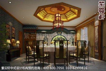 公装设计-休闲会所金华王总私人会所中式装修-餐厅装修效果图