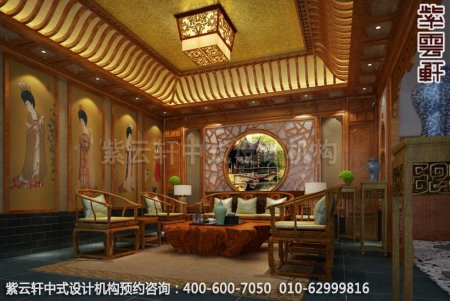 公装设计-休闲会所金华王总私人会所中式装修-茶室装修效果图