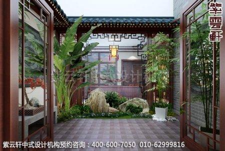 别墅装修-现代中式装修泰州别墅装修设计-庭院装修效果图