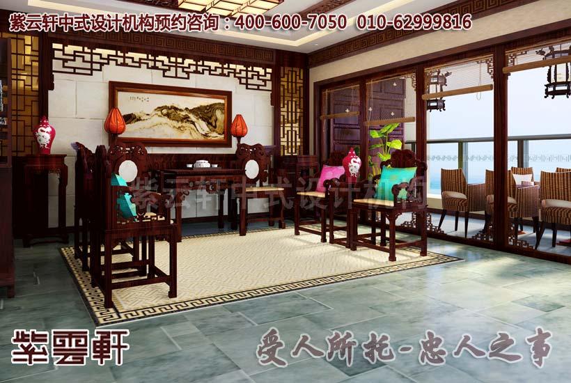 现代中式装修家装设计-客厅装修效果图