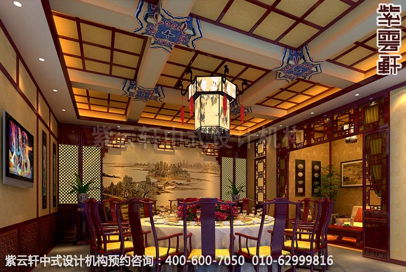 酒店中式装修 餐厅包间装修效果图高清图片