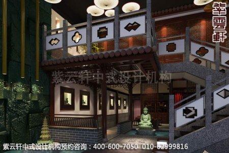 现代中式风格茶楼装-茶楼装修效果图