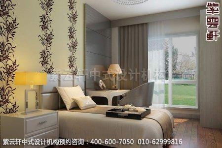现代中式装修设计效果图-卧室装修效果图