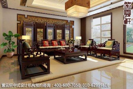中式装修效果图,现代豪华别墅客厅装修图
