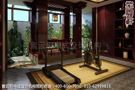 古典中式装修,健身房中式装修效果图