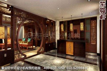 中式装修设计之玄关中式装修效果图,古典中式装修