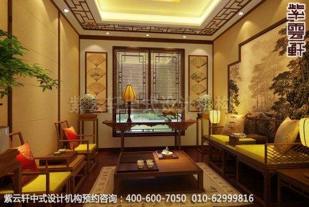 简约古典中式家装豪宅会客室中式装修效果图