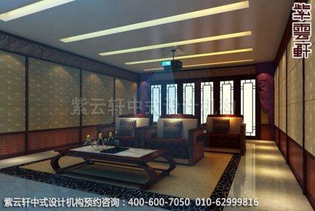 简约古典中式家装豪宅影音室中式装修效果图