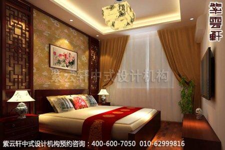 古典中式装修,别墅豪宅卧室中式装修效果图
