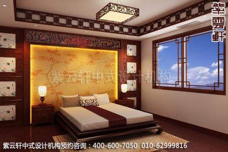 中式装修设计-典雅尊贵别墅卧室装修效果图