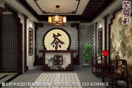 公装设计-茶楼茶茶馆-湛江茶会所接待区中式装修效果图