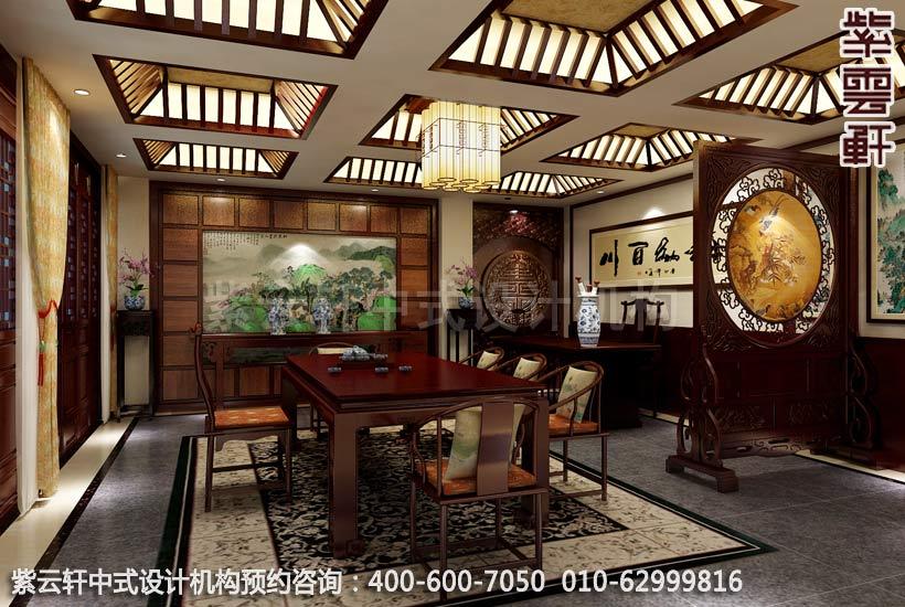 公裝設計-茶樓茶茶館-湛江茶會所茶室中式裝修效果圖