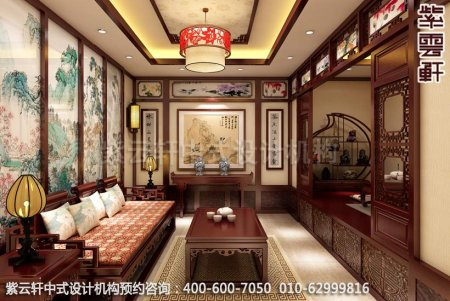 公装设计-茶楼茶茶馆-湛江茶会所A茶室中式装修效果图