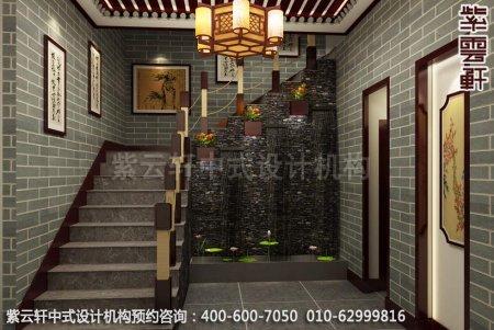 公装设计-茶楼茶茶馆-湛江茶会所楼梯间中式装修效果图