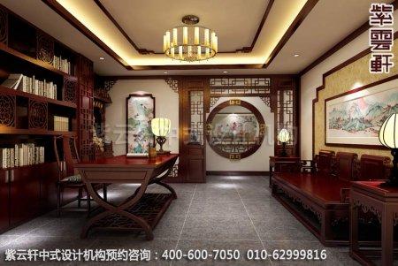 公装设计-茶楼茶茶馆-湛江茶会所书房中式装修效果图