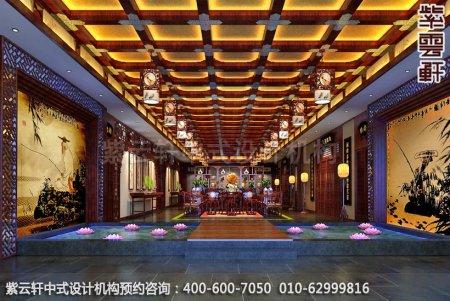 简约古典店面展厅-甘肃定边办公会所大厅中式装修效果图