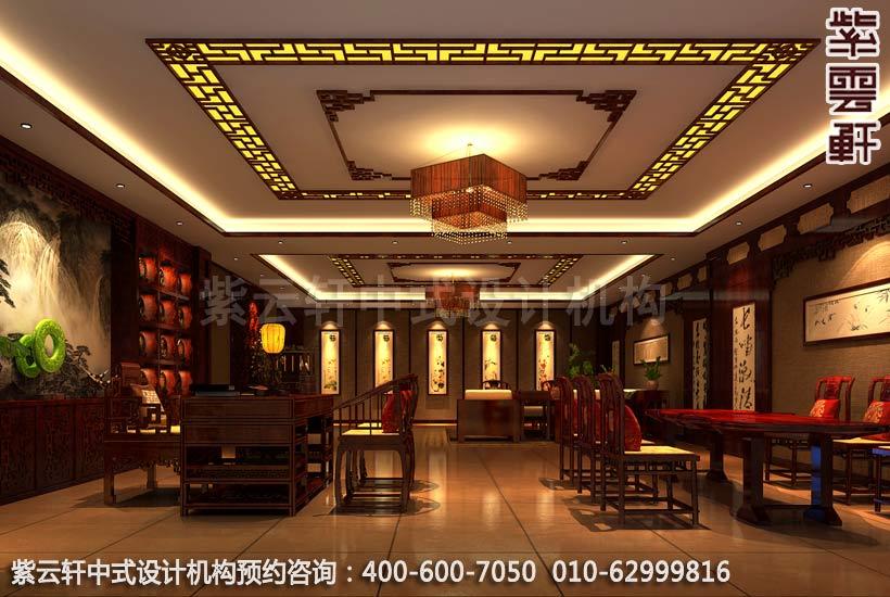 简约古典店面展厅-甘肃定边办公会所办公室中式装修图片
