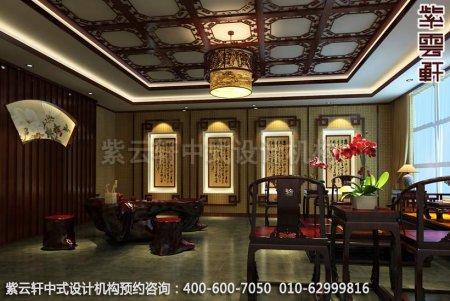 简约古典店面展厅-甘肃定边办公会所休闲室中式装修效果图