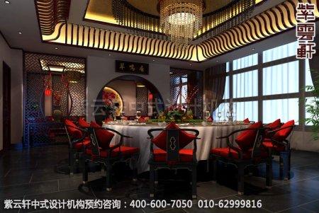 简约古典店面展厅-甘肃定边办公会所餐厅中式装修效果图