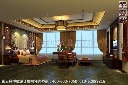 简约古典店面展厅-甘肃定边办公会所卧室中式装修效果图