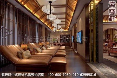 公装设计-足浴会所简约中式装修-南通足浴vip室中式装修效果图