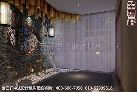 公装设计-足浴会所简约中式装修-南通足浴vip包厢中式装修效果图