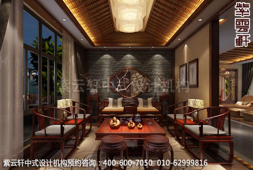 公装设计-足浴会所简约中式装修-南通足浴vip包厢中式图片