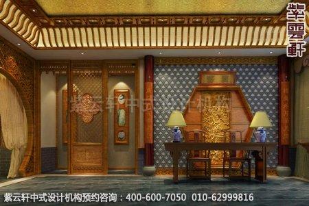 公装设计-休闲会所-扬州尤先生私人会所前台中式装修效果图