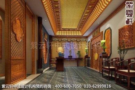 公装设计-休闲会所-扬州尤先生私人会所过道中式装修效果图