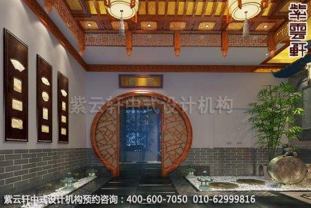 公装设计-休闲会所-扬州尤先生私人会所门厅中式装修效果图