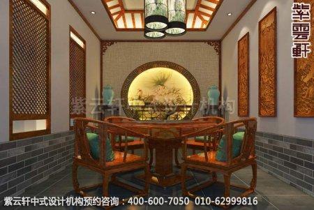 公装设计-休闲会所-扬州尤先生私人会所棋牌室中式装修效果图