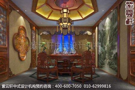 公装设计-休闲会所-扬州尤先生私人会所餐厅中式装修效果图