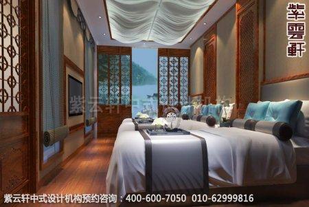 公装设计-休闲会所-扬州尤先生私人会所睡眠区中式装修效果图