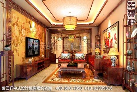 精品复式住宅-郑州陈女士简约中式装修之客厅装修效果图