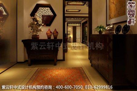 古典中式装修设计-豪华住宅门厅中式装修效果图