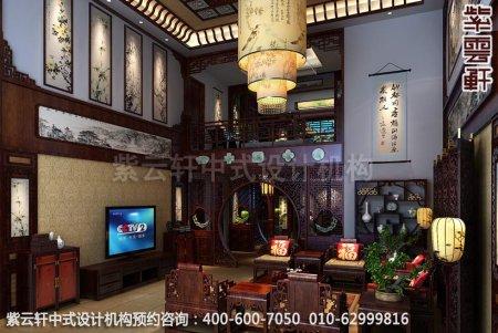 中式家装幽静古雅之情-精品住宅中式装修之客厅装修效果图