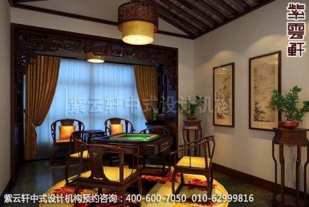 中式家装幽静古雅之情-精品住宅中式装修之休闲室装修效果图