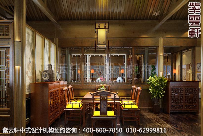静幽典雅现代中式风格设计-别墅装修案例图之餐厅