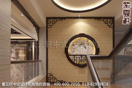 静幽典雅现代中式风格设计-别墅装修案例图之楼梯装修效果图