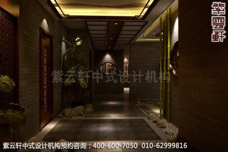 静幽典雅现代中式风格设计-别墅装修案例图之门厅装修效果图