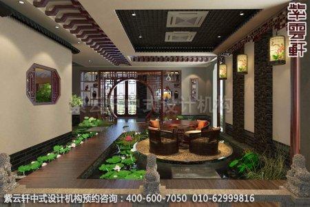 静幽典雅现代中式风格设计-别墅装修案例图之水景区装修效果图