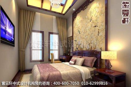 简素中式风格―精品住宅中式装修案例图之卧室中式装修效果图