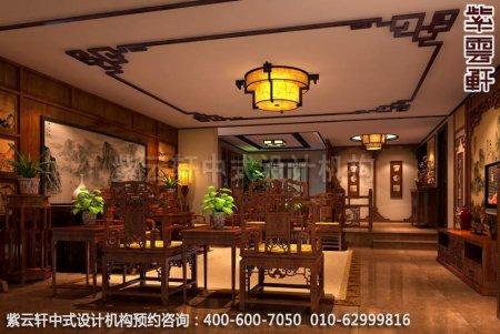 家装中式复式设计-简约中式装修效果图之客厅中式装修效果图